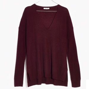 Madewell Warmlight V-Neck Wool Knit Sweater XXS
